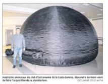 Bienvenue au premier planétarium mobile de Corse
