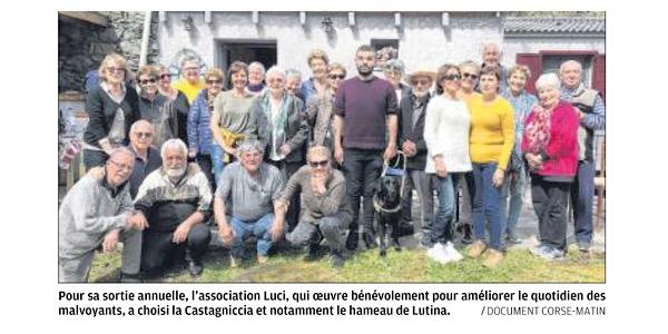 Sortie au cœur de la Castagniccia pour l'association Luci