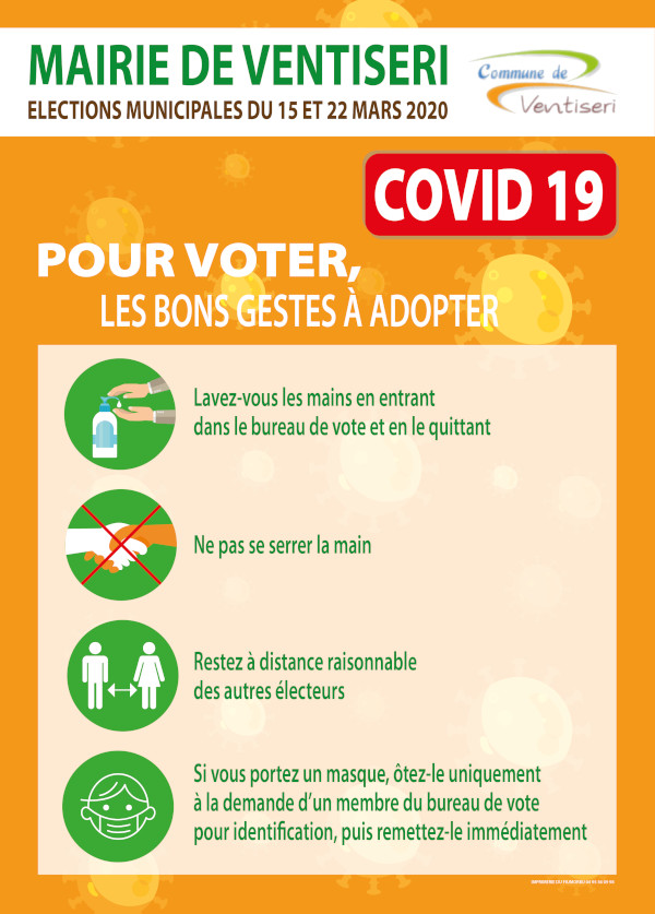 Elections municipales du 15 et 22 mars 2020