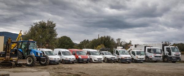 Le parc véhicules des Services Techniques