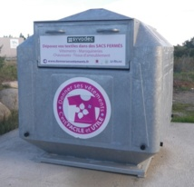 Borne textile de la Recyclerie