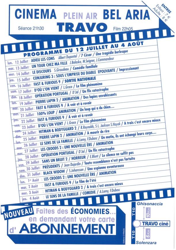 Cinéma en plein air Bel Aria de Travu