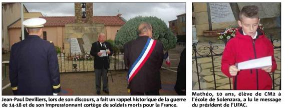 """L'hommage aux 132 poilus """"morts pour la France"""""""