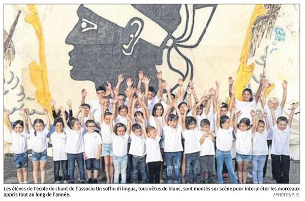 Hè passatu un bellu soffiu di lingua in a scola di u Travu