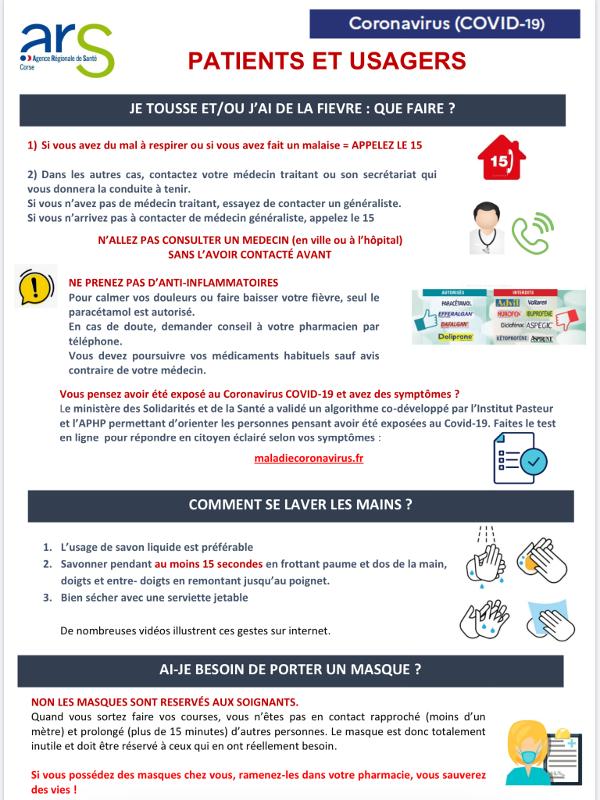 Covid-19 : communiqué l'Agence Régionale de Santé