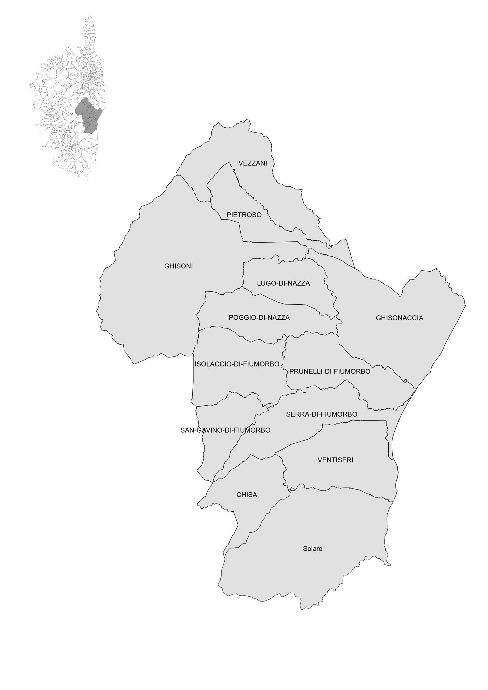 Les 13 communes de la ComCom. CLIQUEZ SUR L'IMAGE POUR AGRANDIR
