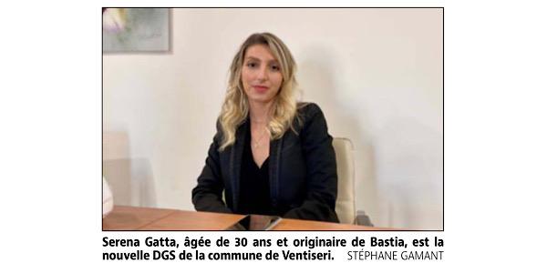 Serena Gatta, nouvelle directrice générale des services