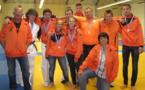Une vague orange pour la coupe régionale de judo de Corte, avec autour de Marciana et Rémy Jinvresse (entraîneurs et responsables du club), Viny Barthelat, 1er cadet (-66kg),Carine Brochen 1ère senior Féminine (-48 kg),Mathieu Cahu, 1er senior (-100kg),Baptiste Douville, 1er Junior (-66kg), Nicolas Jinvresse, 1er senior (+100kg), Célia Muraccioli 1ère Junior féminine (-57kg), Ange Guenego, 2ème Cadet (-66kg), Jean-Raphael Pinet, 3ème Cadet (- 73kg).