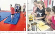 Collégiens et écoliers unis autour des valeurs du sport