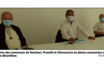 Ghisonaccia - Prunelli - Ventiseri Déconfinement du territoire : trois maires en pleine osmose
