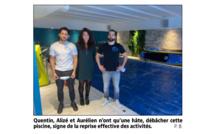 La jeune équipe de FitSwim Family encaisse les vagues