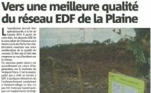 Vers une meilleure qualité du réseau EDF de la Plaine