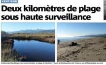 Deux kilomètres de plage sous haute surveillance