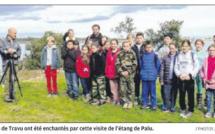 A la découverte de l'étang de Palu pour les écoliers de Travu